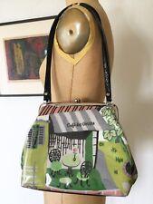M. Andonia Cafe des Artiste VTG Fabric Coated Handbag Shoulder Bag