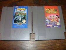 Nintendo NES TURBO RACING  NES-44-UKV  PAL 1988  & DOUBLE DRAGON (GAMES ONLY)