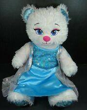 """Build A Bear Frozen Elsa Bear w Sound Box Let It Go Dress 17"""" Disney"""