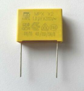 Condensateur 1µF 1uF 1000nf MKP X2 Trame 22.5mm 275V 310V   ±10% 26,3x19x10mm