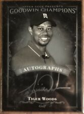 2016 Upper Deck Goodwin Champions Black & White Auto Tiger Woods 1:24,235 Hit SP