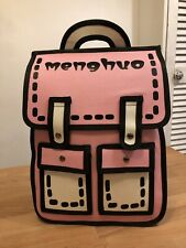 Meng Huo W 010347 Pink/Black Cartoon Funny Backpack! New! Only £39,90!!!