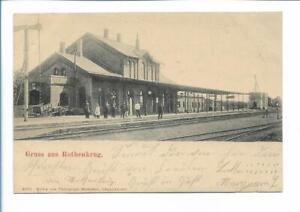 XX14109/ Rothenkrug Bahnhof Nordschleswig + Bahnpost Apenrade - Rothenkrug AK