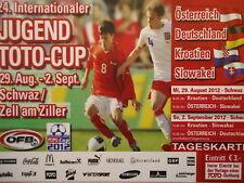 Ticket juventud Toto Cup 2012 Austria Alemania croacia eslovaquia en Schwaz