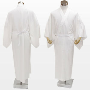 Japanese Men's Traditional Kimono inner under wear Long Full Juban White JAPAN