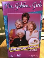 """NEW! The Golden Girls """"Any Way You Slice It"""" Trivia Game From Cardinal"""