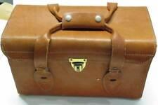 Vintage Leather Large Camera Bag  HOMA Swiss With key