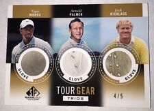 Tiger Woods Arnold Palmer 2014 Upper Deck Sp Game Used Tour Gear Trios Glove#4/5