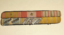 Placard Rappel Medaille WWII ITALIE LIBERATION ALLEMAGNE ETC...