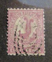 NEW SOUTH WALES AUSTRALIA Scott #81 Θ used Eight Pence bird postage stamp