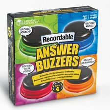 Learning Resources - Recordable Answer Buzzers - Classroom Resource (set of 4)