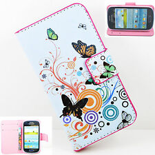 Folding Flip Leather Wallet Stand Case Cover For Various Samsung Galaxy Phones