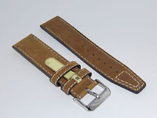 """DI-Modell Genuine Vintage Waterproof Leather 22 mm M' BROWN Watch Band """"NEVADA"""""""