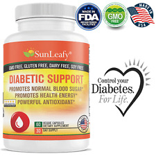 Support Diabetic & Pre Diabetic Health Blood Sugar Low Glycemic Levels USA Made
