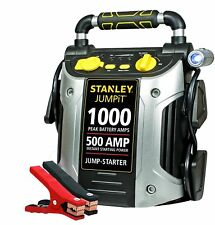 Stanley Portable Jump Starter Battery Power Car Jumper Box 500 Amp 1000 Peak New