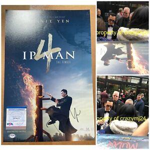 Donnie Yen Signed Ip Man 4 Poster 12x18 Autograph Mulan Star Wras PROOF PSA COA
