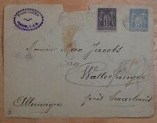 MayfairStamps France 1892 to Germany Used Stationery Cover wwr26147