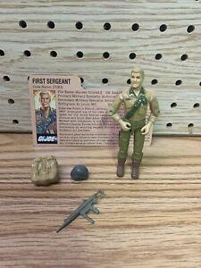 Vintage GI Joe Action Figure ARAH Duke w/Accessories & File Card 1983