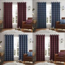 Polyester Tartan Contemporary Curtains & Pelmets