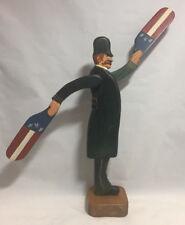 "1985 Folk Art by Janice Fenimore, American Policeman ""Whirligig"""