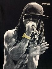 Lil Wayne T Shirt Adult Size L Large Gold Watch Black Graphic Tee Fast Shipping