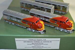 HO Brass Santa Fe 'Warbonnet' F-7 ABBA #40 LABC Challenger #2279.1 XLNT