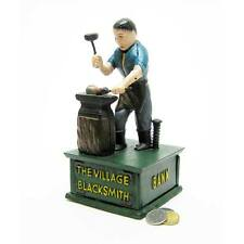 SP1874 - The Village Blacksmith Collectors' Die Cast Iron Mechanical Coin Bank