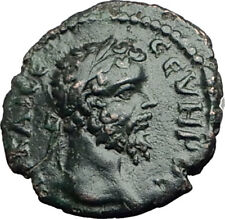 SEPTIMIUS SEVERUS 193AD Nicopolis ad Istrum Ancient Roman Coin w EAGLE i65045