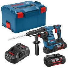Bosch Professional GBH 36 V-LI Plus SDS-Plus Akku-Bohrhammer in L-BOXX mit 2x6,0Ah Li-Ion-Akku Zubehör-Set (0 611 906 00B)