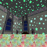 100pcs Luminous Star Stickers Creative Art Decals Wall Door Window Home Decor