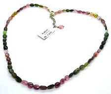 Multi-Colour Tourmaline & Sterling Silver Necklace RRP £190