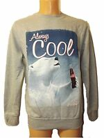 NEW MENS LADIES OFFICIAL ALWAYS COOL COCA COLA SWEATSHIRT GREY POLAR BEAR S-XL