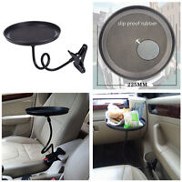 360° Rotated Round Food Holder Coffee Table Stand Food Tray Mount for Car Travel