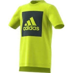 adidas t-shirt Essentials logo performance tee top boys girls unisex