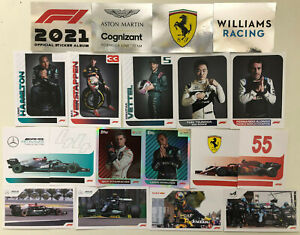 TOPPS F1 2021 FORMULA 1 STICKER COLLECTION No's 1 - 232