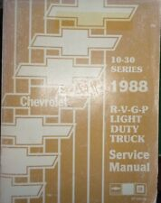 Repair manuals literature ebay 1988 chevrolet r v g p truck pickup series 10 thru 30 shop service manual fandeluxe Image collections