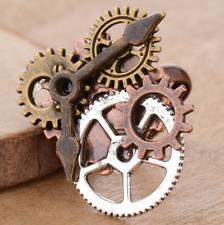 fashion retro clock gear ring steampunk alloy ring szie adjustable