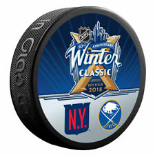 2018 WINTER CLASSIC PUCK New York Rangers vs Buffalo Sabres Dueling Logo CITI
