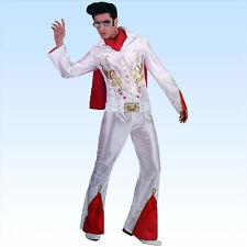 Karneval Herren Kostüm Elvis weiß American Eagle Rockstar Größe M Smi