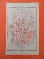 DANZIG plus Landkarte WEICHSELMÜNDE GDANSK historischer Stadtplan 1895