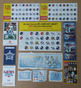 Lot of 27 mix of sports items schedules ticket stub stickers  Cowboys Mud Hens