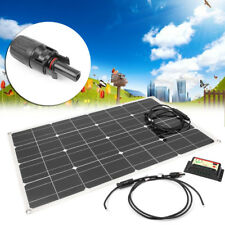 80W Sunpower Semi Flexible Solar Panel w/ 12V/24V Solar Controller For RV Boat