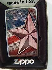 Zippo® Retro Star American proud flag Flagge  New/NeuOVP