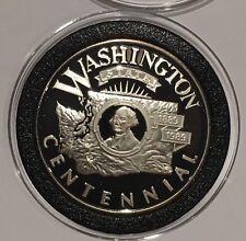 1989 Washington State Centennial Proof Coin 1 Troy Oz .999 Fine Silver Round USA
