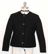 """LODENFREY BOILED WOOL BLACK Jacket CLASSY Women German VELVET TRIM B40"""" 10 M"""