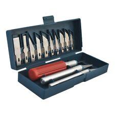 Schnitzmesser Skalpell Bastelmesser 16 tlg. Set Modellbaumesser Hobbymesser Box