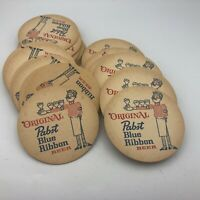 Vintage Lot 50 Pabst Blue Ribbon P-411 Beer Drink Coasters PBR Advertising E7