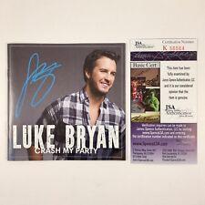 Luke Bryan Signed Autographed Crash My Party CD Album JSA COA