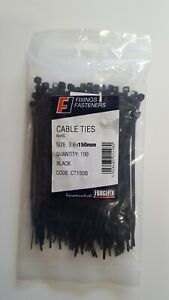 Cable ties  3.6 x 150mm