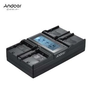 Andoer LP-E6 LP-E6N NP-F970 4-Channel DSLR Camera Battery Charger for Canon SONY